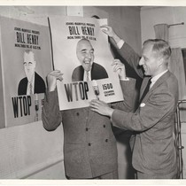 Bill Henry with Joseph C. Harsch, WTOP