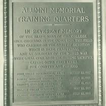 Memorial Training Quarters plaque, Pomona College