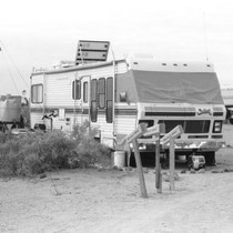 Slab City: photograph of campers and recreational vehicles