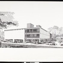 Artist's rendering of an unidentified building