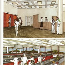 Drawings of new School of Dentistry Building interiors