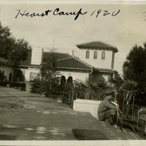 Hearst Camp 1920 [view from Esplanade, entrance to C House, San Simeon, ...