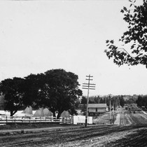 12th St. Dam in 1884, looking east from Oak St. [picture]