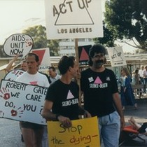 ACT UP Los Angeles LAC/USC vigil