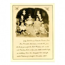 Christmas photo card, 1940