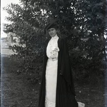 Alice Marston in cap and gown