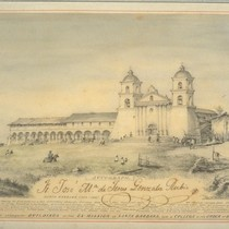 Church and contiguous buildings of the Ex-Mission of Santa Barbara. Now a ...