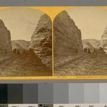 Burning Rock Cut--Green River.--Photographer: Wm. H. Jackson--Photographer's number: 172--Place of Publication: Omaha, ...