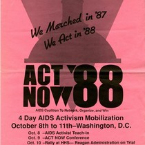 ACT NOW '88 poster