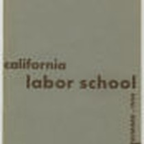 California Labor School 1944 summer term catalog