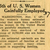 5th of U.S. women gainfully employed
