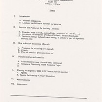 APITEN Advisory Committee meeting July 1991