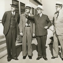 C.L. Preisker, General Thomas M. Robins, Capt. G. Allan Hancock, and unknown ...