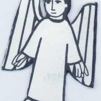 Angel cut-out drawing