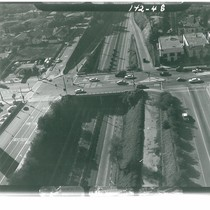 Aerial View Looking West at Freeway Overpass at Fair Oaks