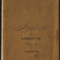 Index to 1893 Madera County Assessment Roll, Volume 2