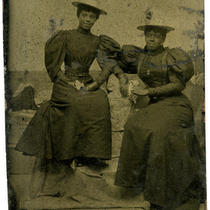 Portrait of Mayme C. Netherland (right) and unidentified woman