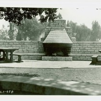 View of an outdoor fireplace at Arcadia Community Regional Park