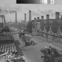 [Photograph of a street at the Standard Oil Refinery]