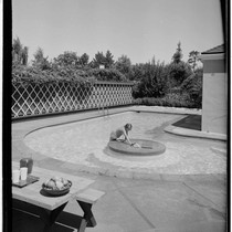 San Francisco gardens: Pierce residence. Swimming pool