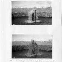 Artesian well no. 2 in Owens Valley, flow with air