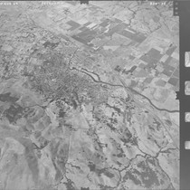 Aerial photograph of Petaluma, California, Aug. 20, 1969