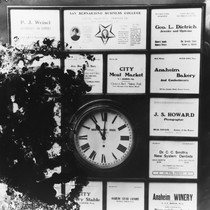 Advertising Clock, Anaheim Chamber of Commerce. [graphic]