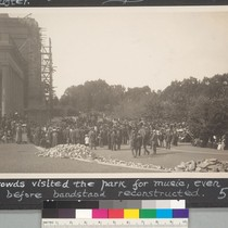 6 months after. Crowds visited the park for music, even before bandstand ...