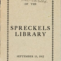 Cover of Spreckels Library Book Catalog