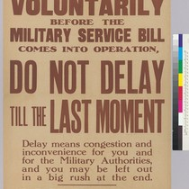 If you intend to join voluntarily before The Military Service bill...: Join ...