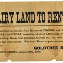 [Advertisement to Rent Dairy Land]