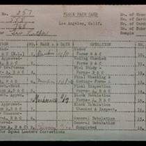 WPA block face card for household census (block 768) of 59th Place, ...
