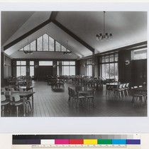 Dominican College Dining Room, interior, San Rafael, 1958