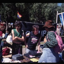 ACT UP San Francisco booth at San Francisco Lesbian and Gay Freedom ...