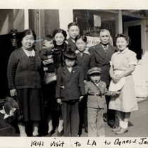 Al and Mary Tsukamoto family visits Agnes and James in Los Angeles