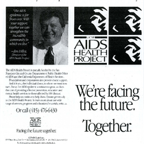 UCSF AIDS Health Project Facing the Future Together brochure
