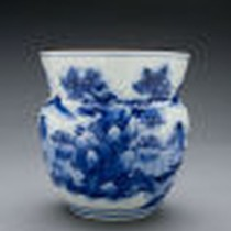 Blue and white Sometsuke fresh water jar