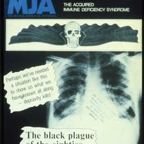 Cover of Medical Journal of Australia with AIDS headline
