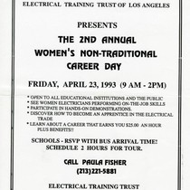 2nd Annual Women's Non-Traditional Career day flyer