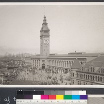 1 year after. Ferry clock and building fully restored. [Neg. no. 21368]