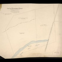 Lot 19 Kraemer Tract showing location of washed land, May 1892