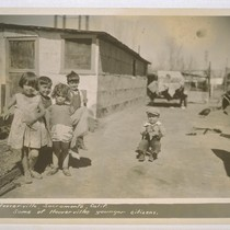 Hooverville, Sacramento, California. Some of Hooverville's younger citizens