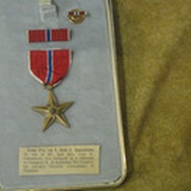 Case With the Bronze Star Medal Award Gustafsson Received, 1970
