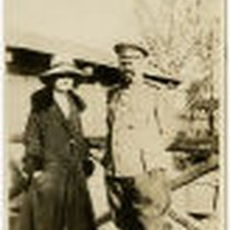 Bessie Beatty with Russian soldier