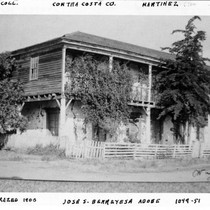 1849 Jose S. Berreyesa adobe, Contra Costa County