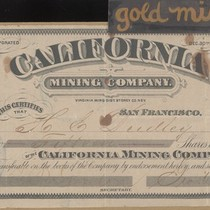 California Mining Company Stock Certificate - 15 shares