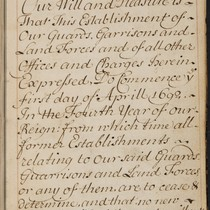 [Account book for the establishment of forces].