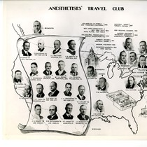 Anesthetists' Travel Club map