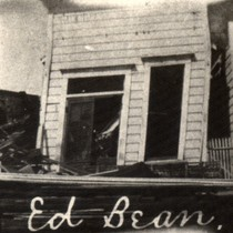 Ed Bean's butcher shop in Tomales, following the earthquake of April 18, ...