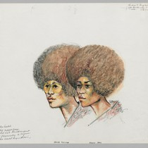 5/8/72 Kendra Alexandra & Angela Davis sit side by side when I.D. ...